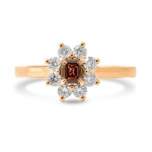 Fancy Dark Orange Brown Emerald and White Brilliant Diamond Dress Ring 433002