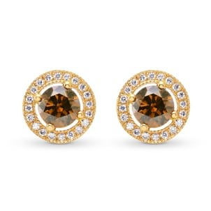 Fancy Brown Diamond Earrings 494160