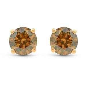 Fancy Brown Stud Earrings 510204