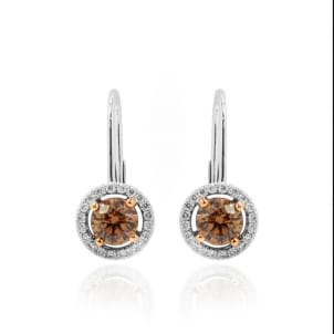Brown Diamond Drop Earrings 547626