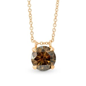 Fancy Brown Round Diamond Pendant 547632
