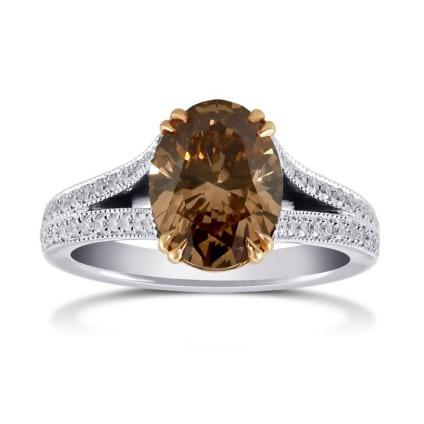 Кольцо, бриллиант Цвет: Коричневый, Вес: 2.52 карат