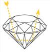 Преломление света в гранях бриллианта
